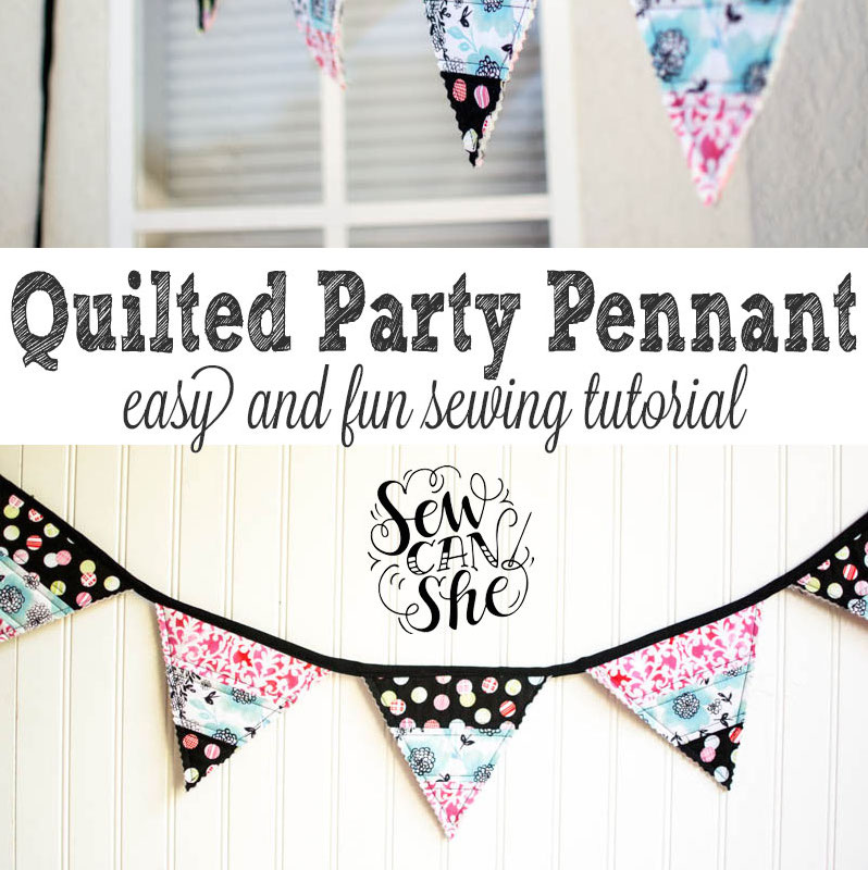 Easy party banner - quilter's style.