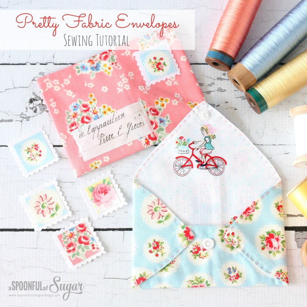 PRETTY FABRIC ENVELOPES from A Spoon Full of Sugar