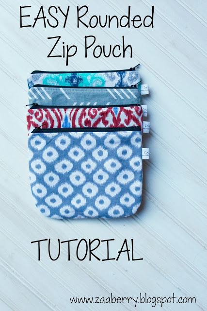 EASY Rounded Zip Pouch from Zaaberry