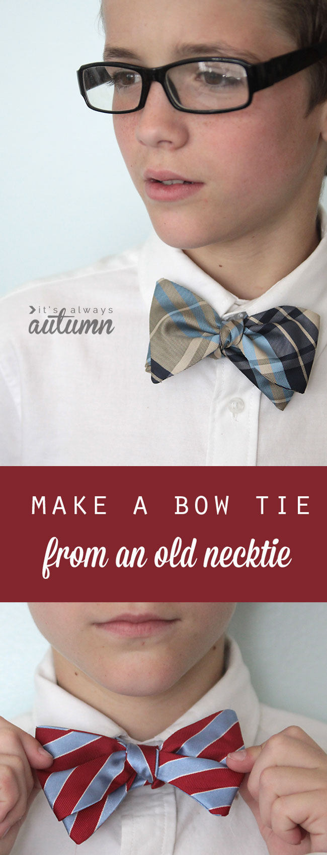 bow tie from an old necktie from It's Always Autumn