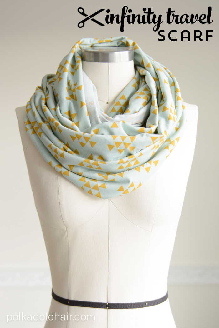 Travel Infinity Scarf Sewing Tutorial