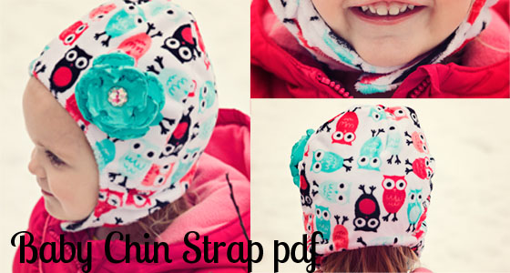 Baby Hat with Chin Strap {Free Pattern} from Fleece Fun