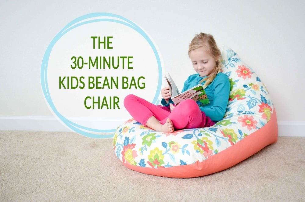 DIY Kids Bean Bag Chair from Project Nursery