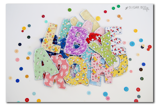 Fabric Letters ABC's from Sugar Bee Crafts