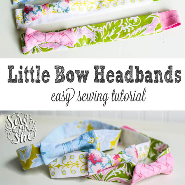 How to sew cute headbands - with a bow!