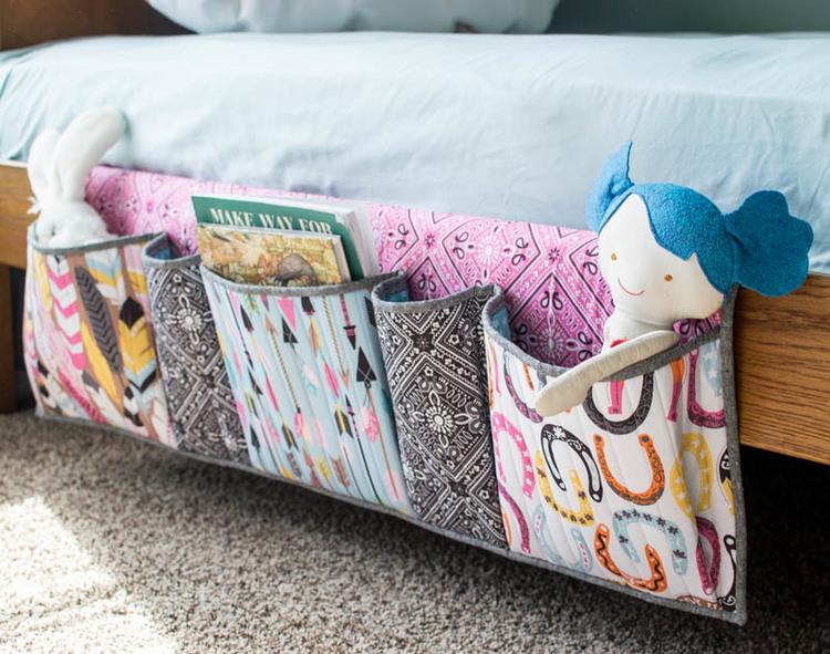 Bedside Pockets Organizer - free sewing tutorial — SewCanShe | Free ...