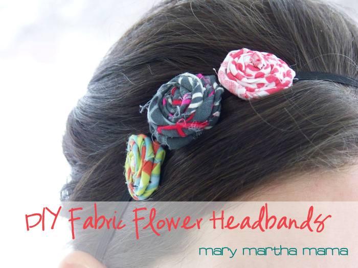 DIY FABRIC FLOWER HEADBANDS from Mary Martha Mama