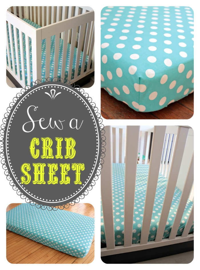 Baby crib sheets from View from the Fridge