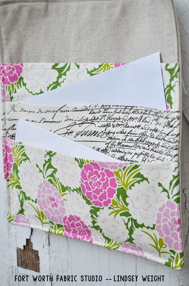 Mail Organizer from Fort Worth Fabric Studio
