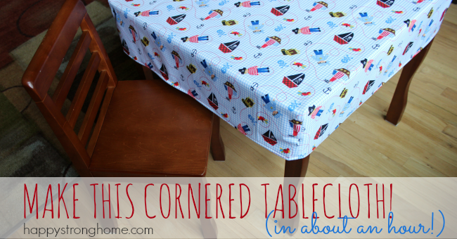 DIY Cornered Tablecloth from Happy Strong Home