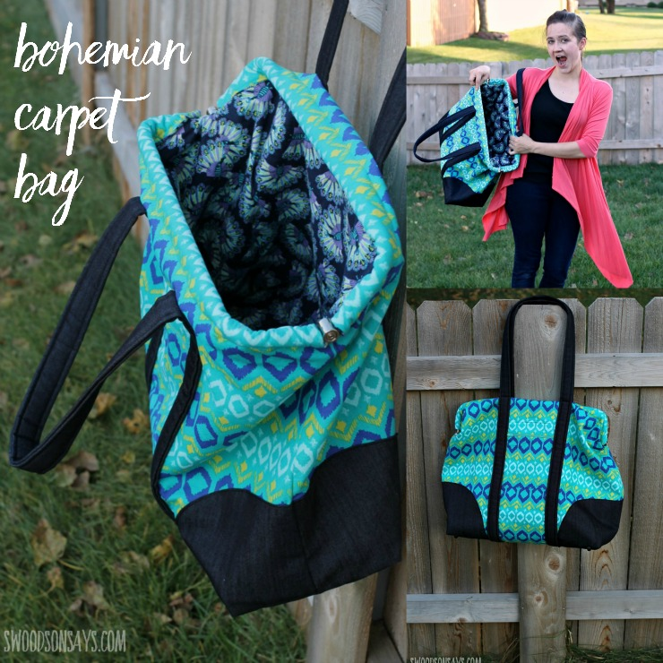 Friday Spotlight: Stephanie\'s Bohemian Carpet Bag — SewCanShe | Free ...