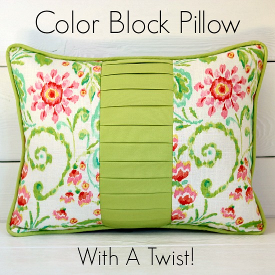 Color Block Pillow from So Sew Easy
