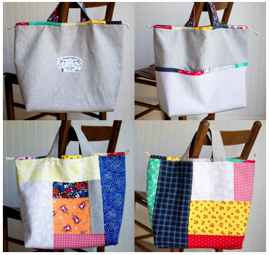 Japanese Knock off Tote Bag - free sewing tutorial — SewCanShe ...