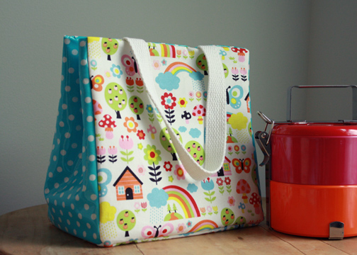 Reusable Lunch Bag Tote from The Long Thread