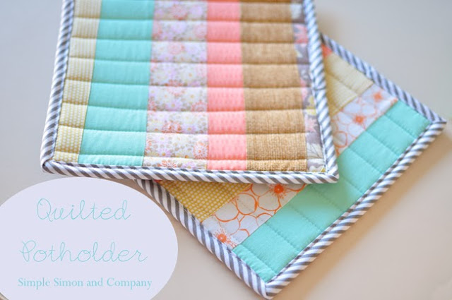 Quilted Potholders from Simple Simon and Company