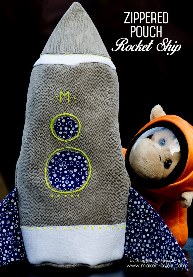 Zippered Pouch Rocket Ship from Make It & Love It