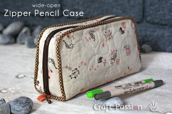Zipper Pencil Case from Craft Passion