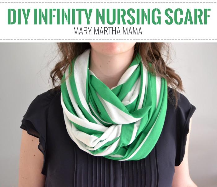 DIY Infinity Nursing Scarf