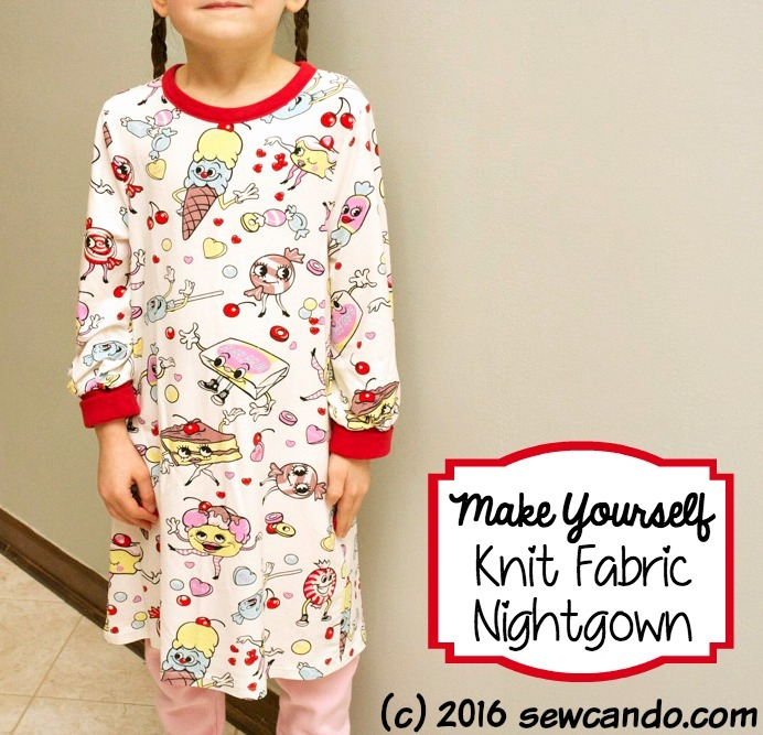 Knit Fabric Nightgown & Pattern from Sew Can Do