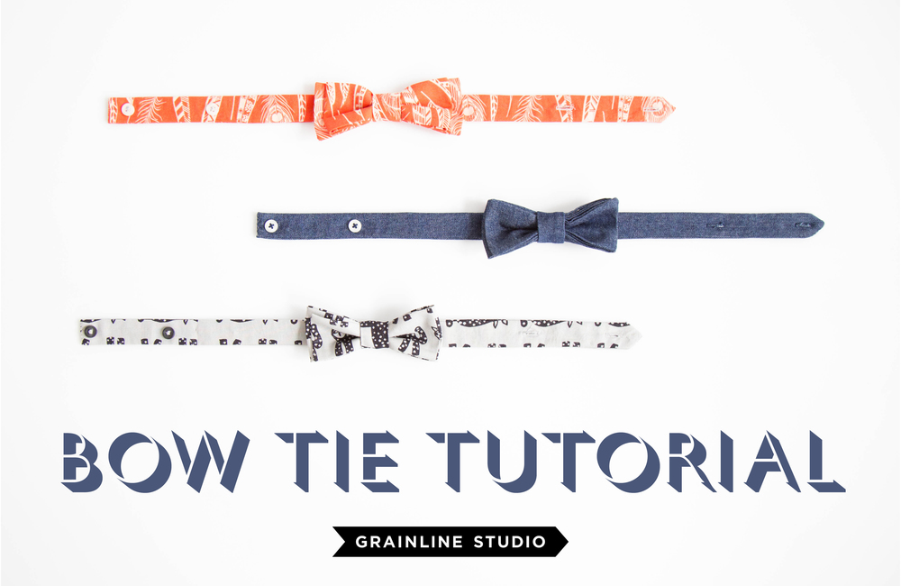 BOW TIE TUTORIAL from Grainline Studios