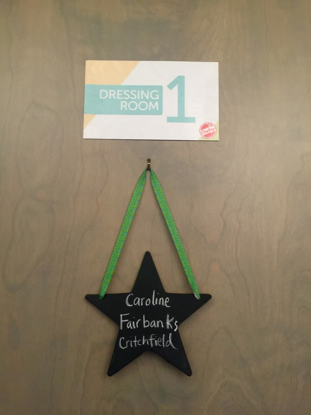 The door to my dressing room. <3