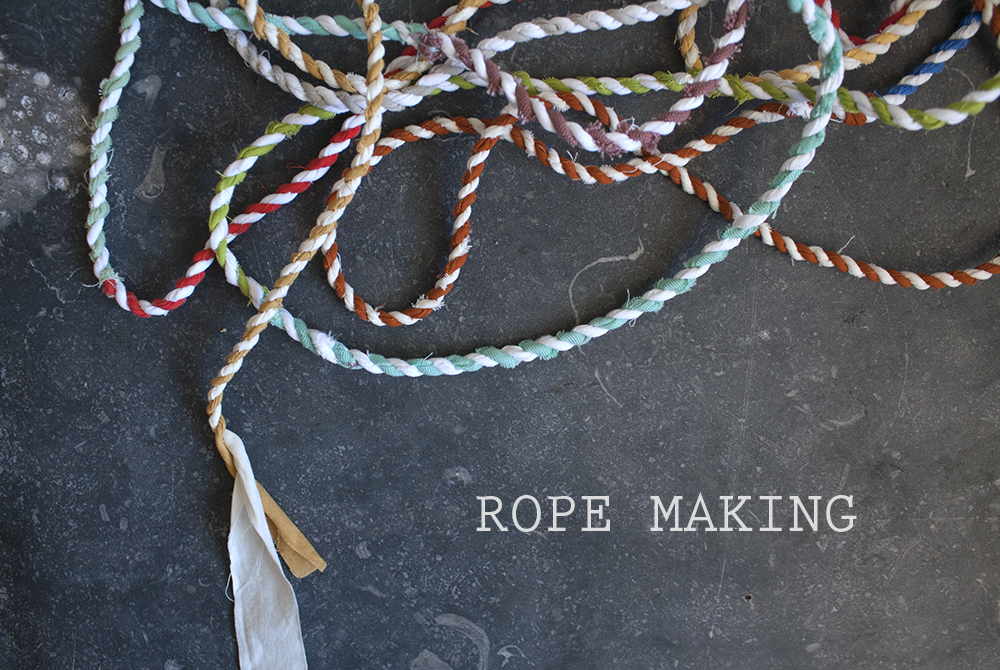 Rope Making from Yellow Spool