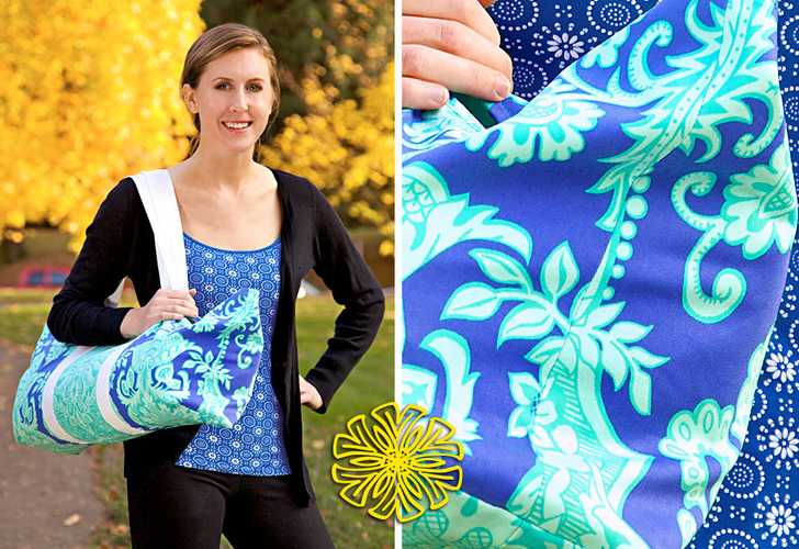 Yoga Mat Shoulder Style Tote from Sew 4 Home