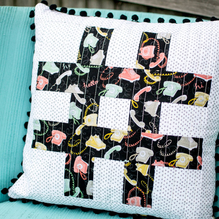 How to Sew a Pillow Cover From a Quilt Block — SewCanShe | Free ...