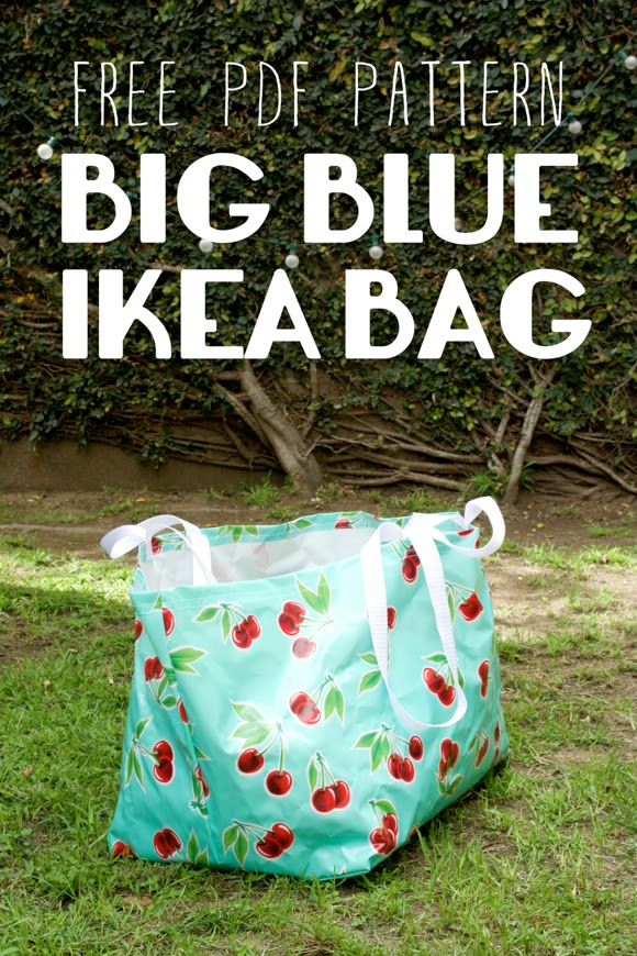 Big Blue Ikea Bag from Miss Make