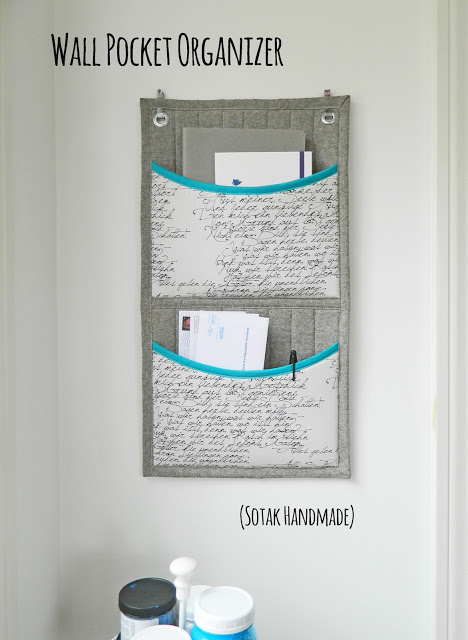 wall pocket organizer from SOTAK Handmade