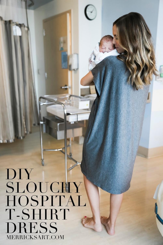 DIY FRIDAY: SLOUCHY HOSPITAL T-SHIRT DRESS from Merrick's Art