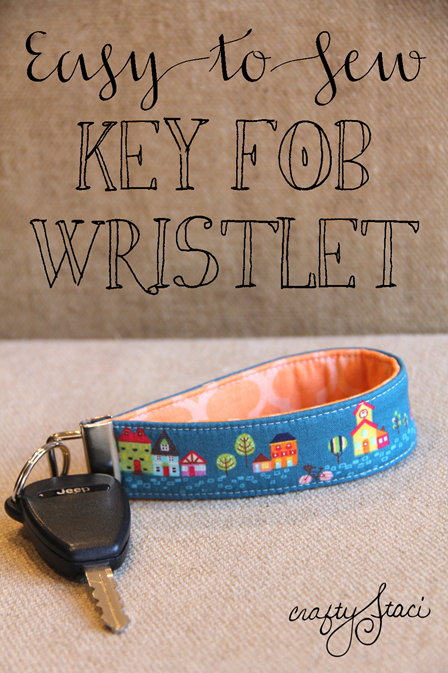 Key Fob Wristlet from Crafty Staci