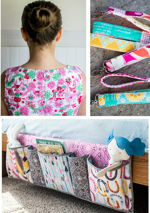 Click to see sewing invisible zippers, key fob wristlets, and the bedside pockets organizer