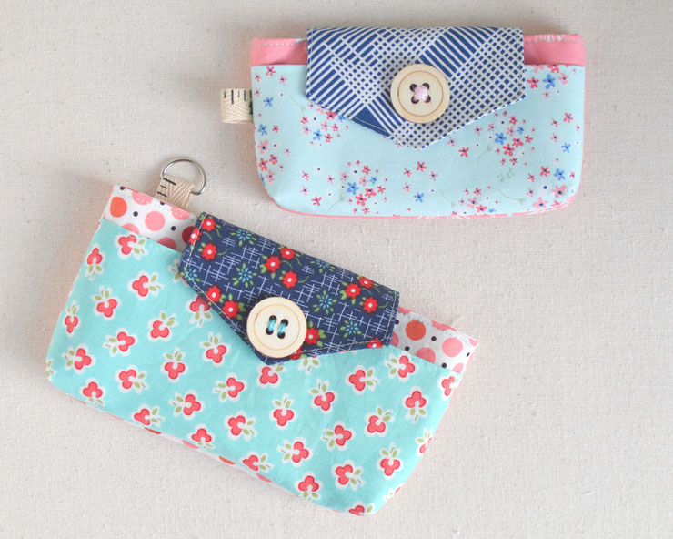 The Phoebe Phone & ID Case {Free Pattern} from Clover & Violet