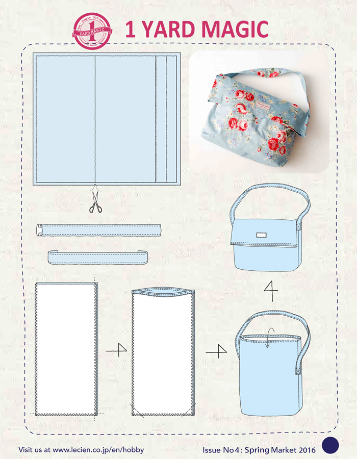 1 Yard Magic Messenger Bag from Lecien Fabrics {2 Bags!} — SewCanShe ...
