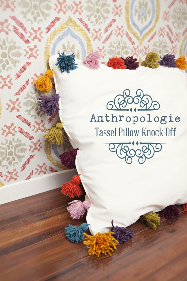 Anthropologie Tassel Pillow Knock from Sewing In No Mans Land