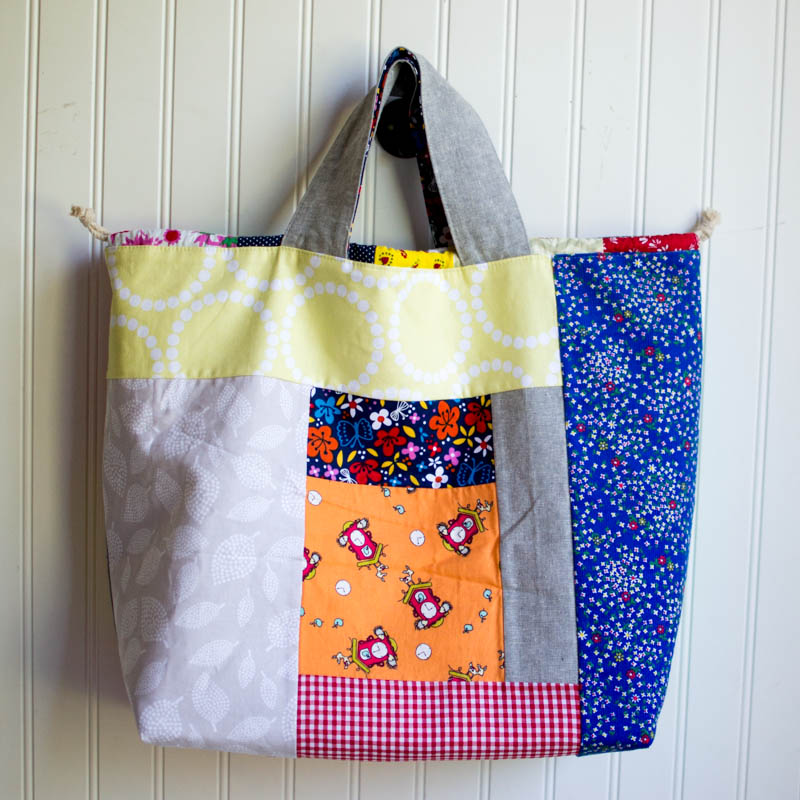 7b35f223c7bd In February I stitched up my first tote bag for the year as part of our Un- Tutorials series... thanks to you I wrote a tutorial for this Japanese  patchwork ...