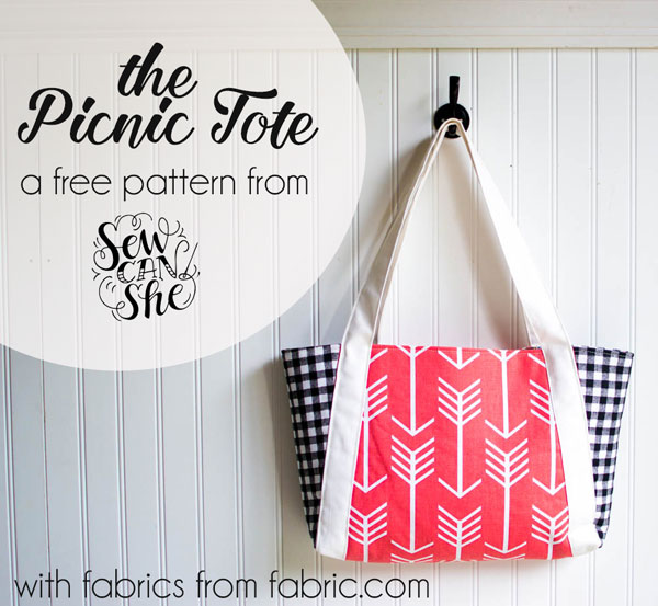 The Picnic Tote Free Sewing Pattern Sewcanshe Free Sewing