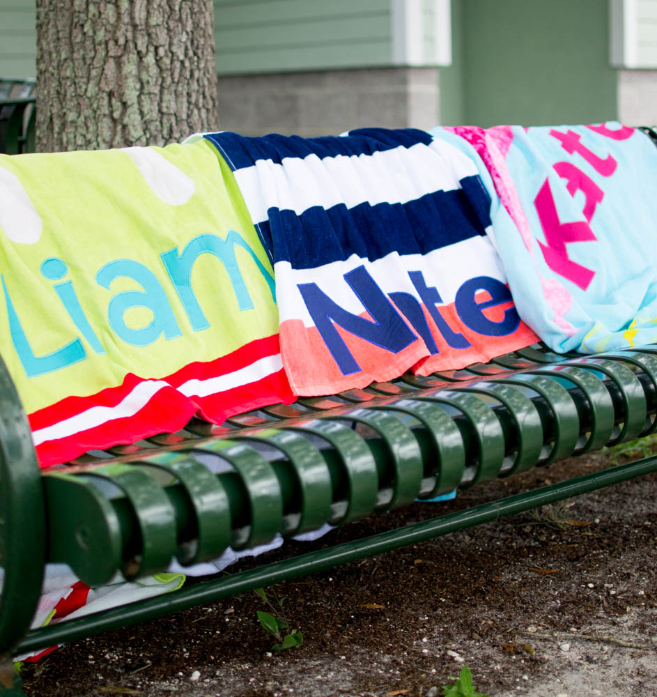 Diy Personalized Beach Towels Sewcanshe Free Sewing Patterns And