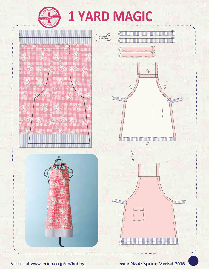 image about Free Printable Apron Patterns named 1 Garden Magic Apron against Lecien Materials! no cost practice