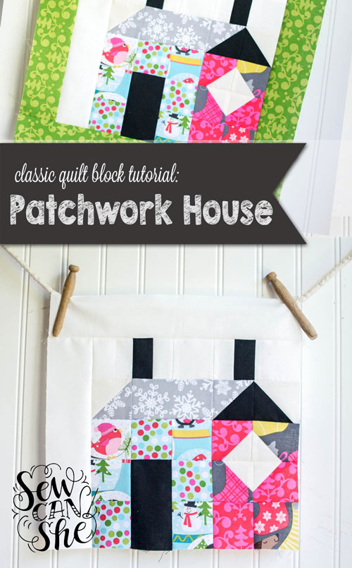 Classic blocks fresh fabric a patchwork house block for Classic house tutorial