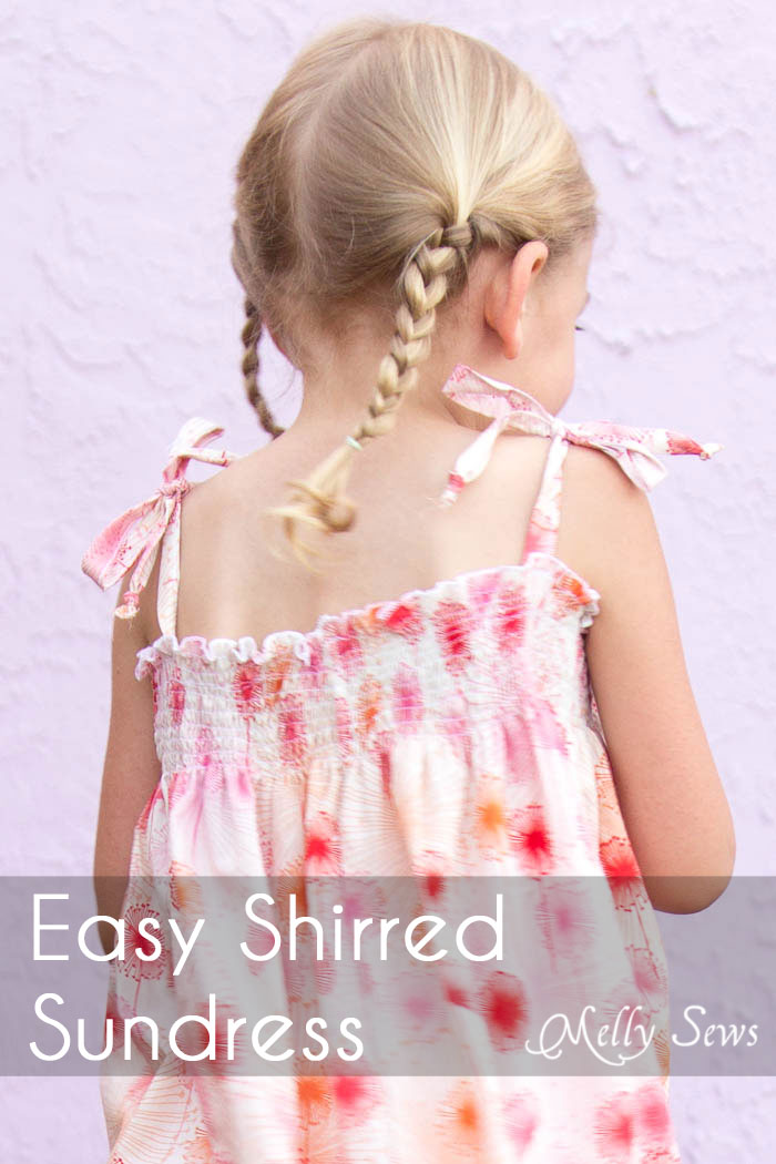 Easy Shirred Dress Tutorial from Melly Sews
