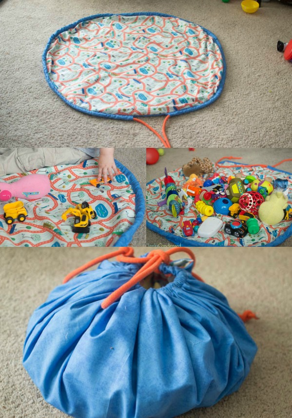 DIY TOY OR LEGO BAG AND PLAYMAT from Clarks and Condensed