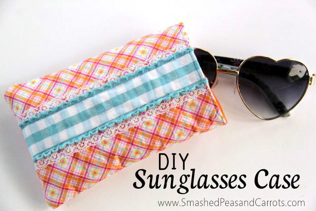 DIY Sunglasses Case Tutorial from Smashed Peas and Carrots