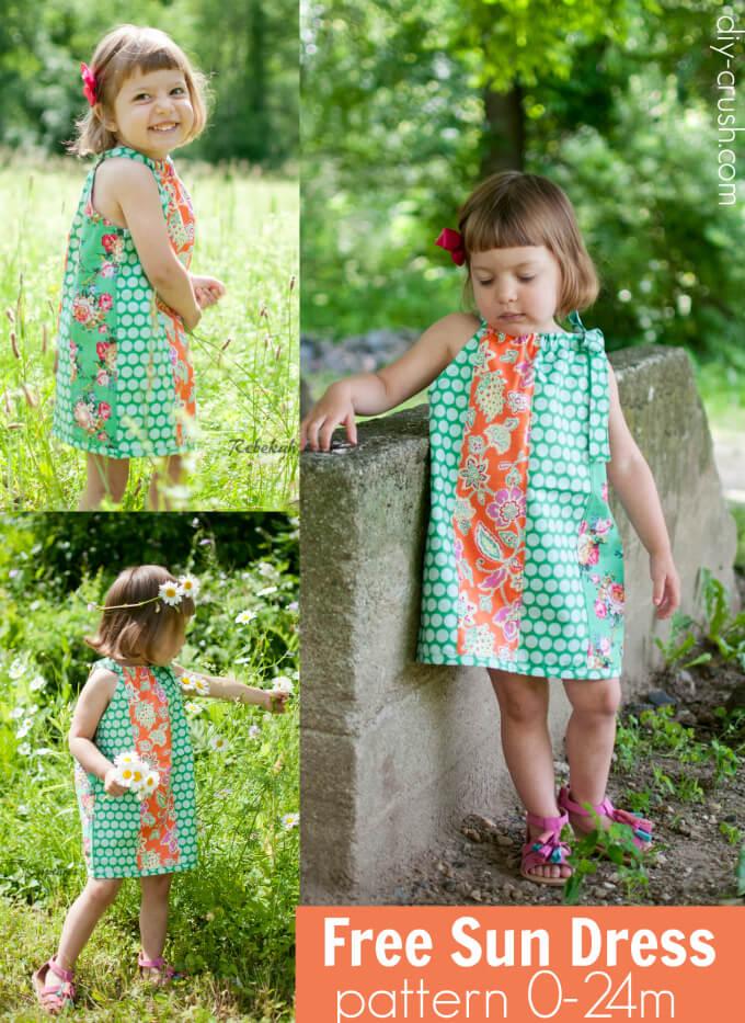 Free Sun Dress Pattern from DIY Crush