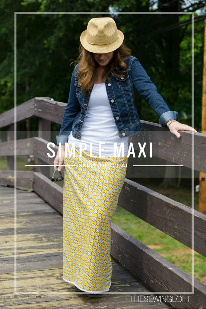 Simple Maxi Skirt DIY from The Sewing Loft
