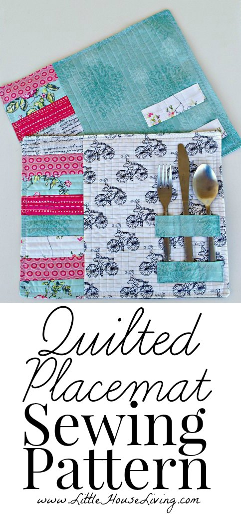 Easy Quilted Place mats from Little House Living
