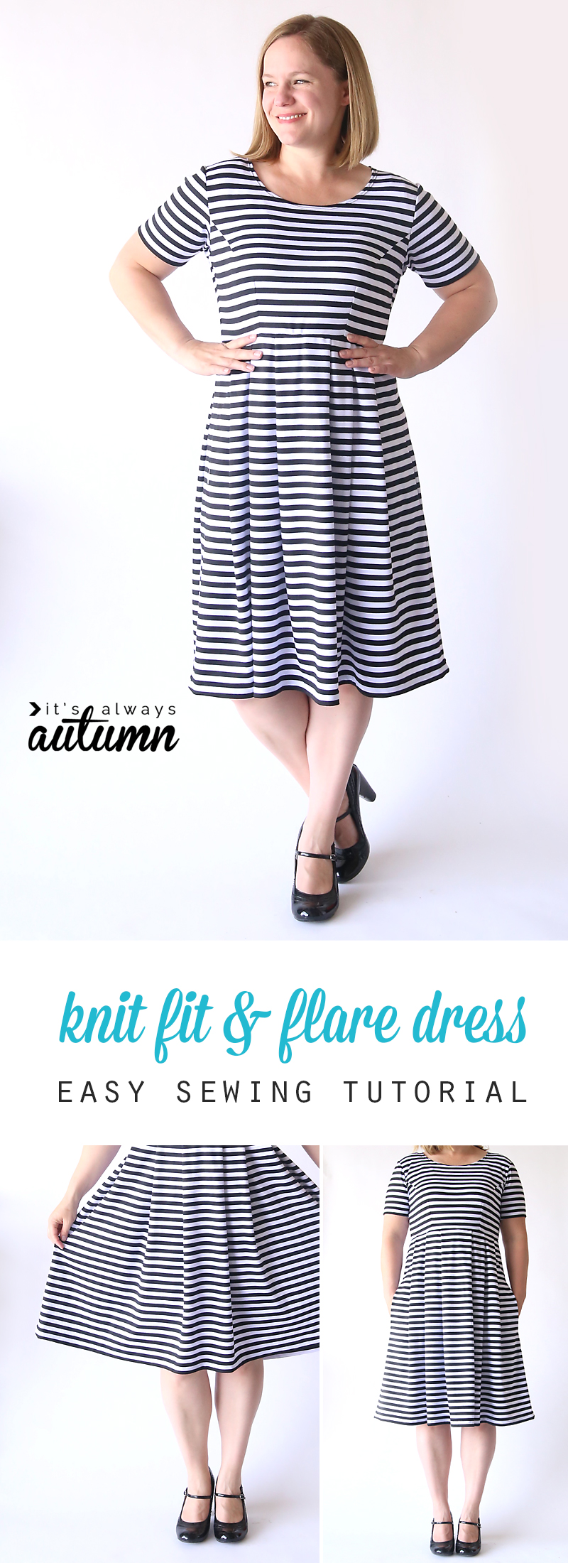 sew the perfect knit fit & flare dress from from It's Always Autumn