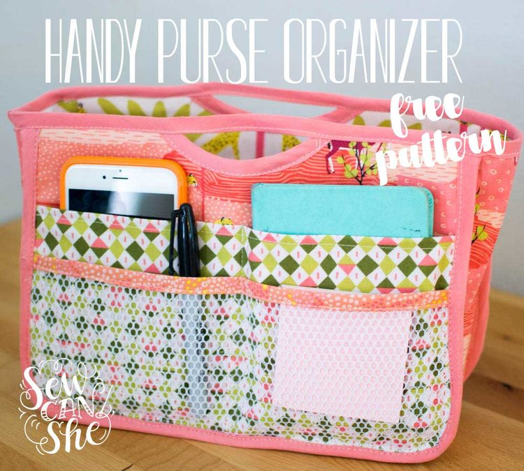 Handy Purse Organizer {free sewing pattern} — SewCanShe | Free ...