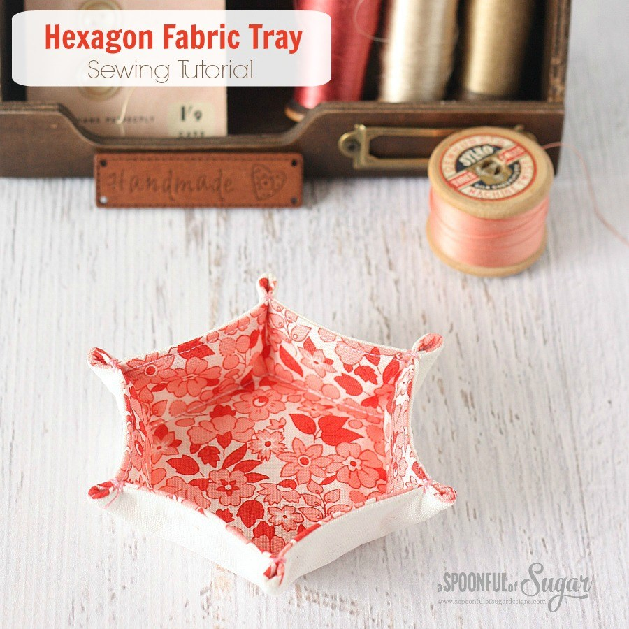 HEXAGON FABRIC TRAY from Spoonful of Sugar